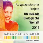 Banner UN-Dedae Biologische Vielfalt 2015